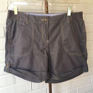 Tommy Hilfiger Gray Grey Cargo Shorts Sz 8